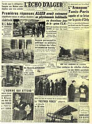 30 janvier 1957 ---- Une centaine de HLL abattus