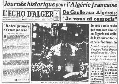 """4 Juin 1958 ---- """"Je vous ai compris"""""""
