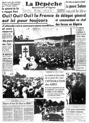 Lundi 1er Juin 1958 Oui ! Oui ! Oui !  La France est ici pour toujours