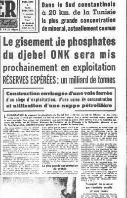 10 Avril 1960 ---- Les phosphates du Djebel ONK
