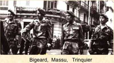 BIGEARD MASSU TRINQUIER et le Capitaine LEGER