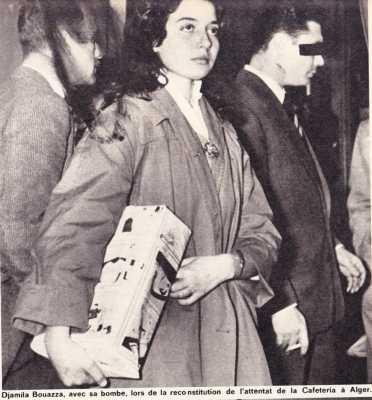 Djamila BOUAZZA Poseuse de Bombes lors de son arrestation