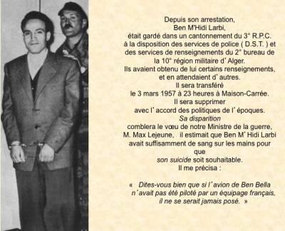 Photo-titre pour cet album: L'arrestation de Ben M'HIDI
