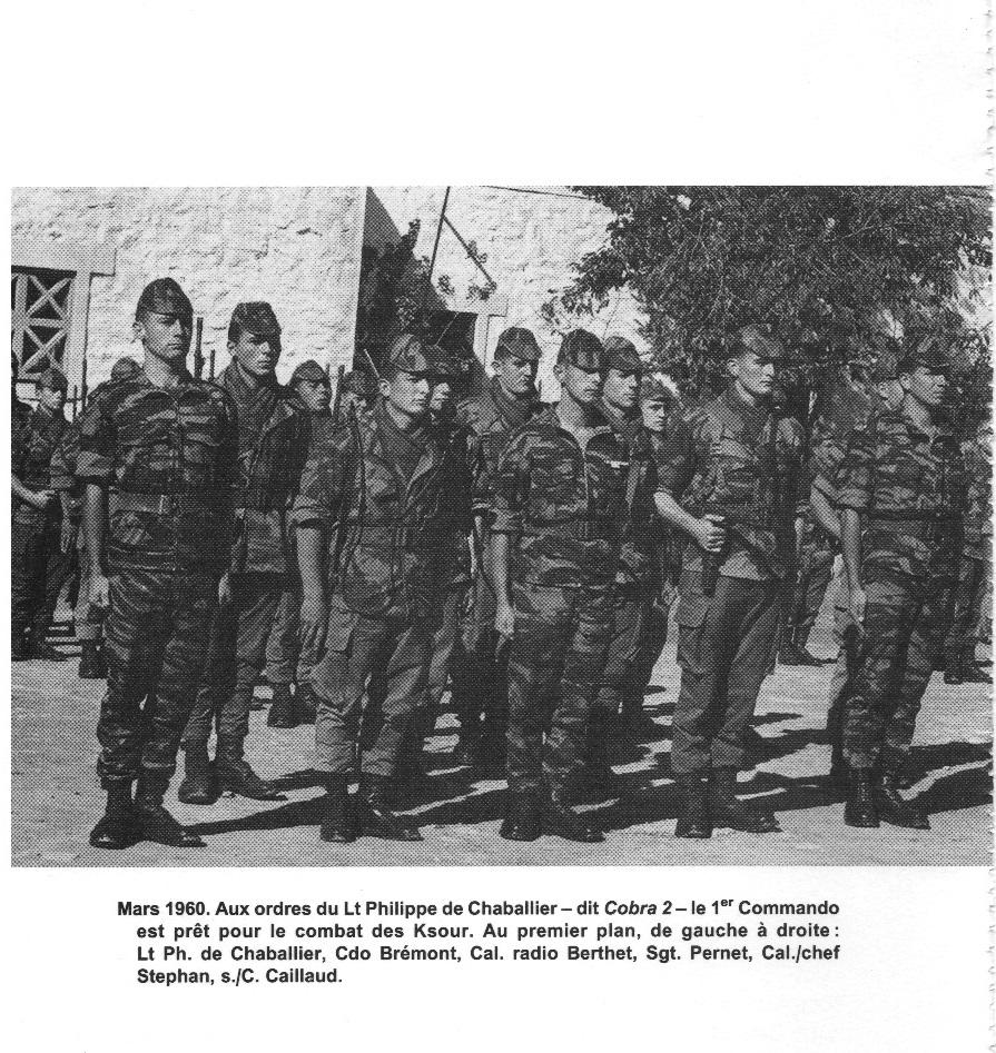 Lieutenant Philippe De CHABALIER chef du 1er commando de COBRA 2
