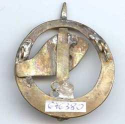 Revers insigne du commando de  fabrication locale