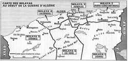 carte des Willayas