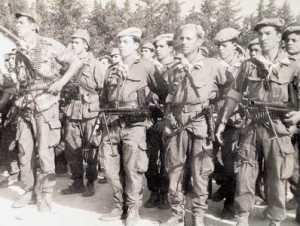 commando FLN Mat 49, FM 24-29  et mitrailleuse AA52