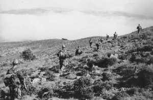 Le commando en progression en juin 1959