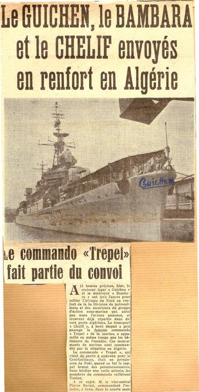 Le GUICHEN Le BAMBARA Le CHELIF Commando TREPEL