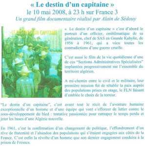 Film Le Destin d'un Capitaine Alain de Sedouy