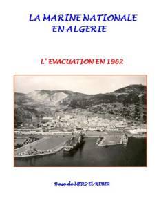Photo-titre pour cet album: La MARINE en Mai / Juillet 1962