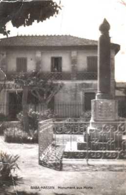 BABA-HASSEN Le Monument aux Morts