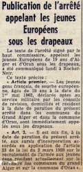 Le Plan Simoun - Juin 1962