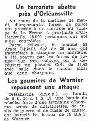 10 Octobre 1956 - Orleansville