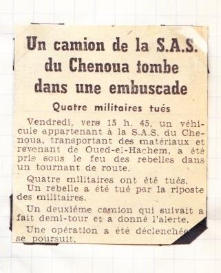 SAS du CHENOUA