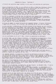 """Commando de Chasse """"PARTISAN 4"""" l'histoire du Capitaine GASTON Celle aussi de centaines de capitaines"""